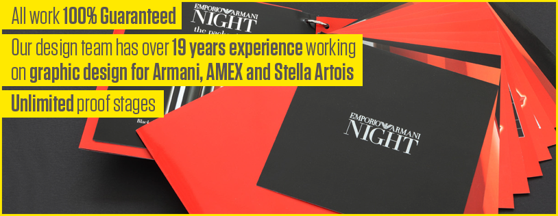 Professional graphic design for AMEX, Armani and Stella Artois
